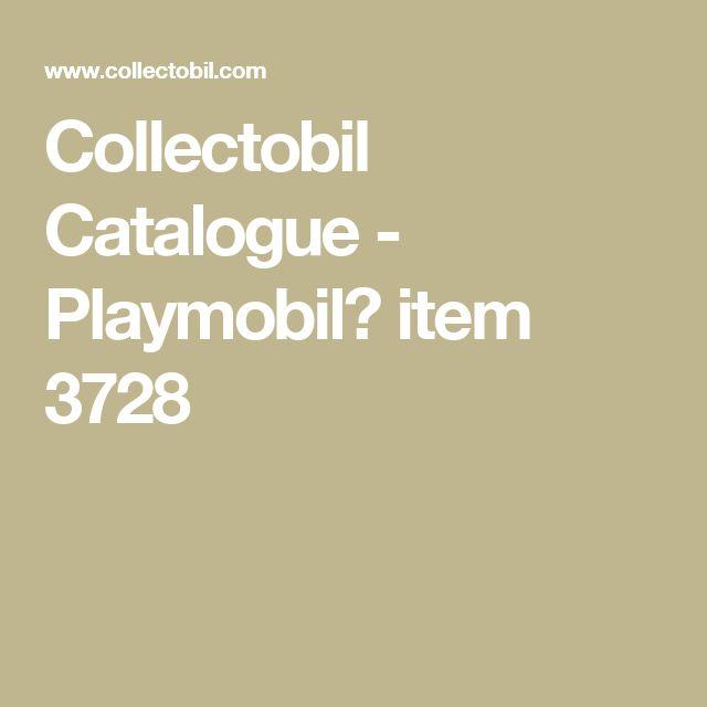 Collectobil Catalogue - Playmobil� item 3728