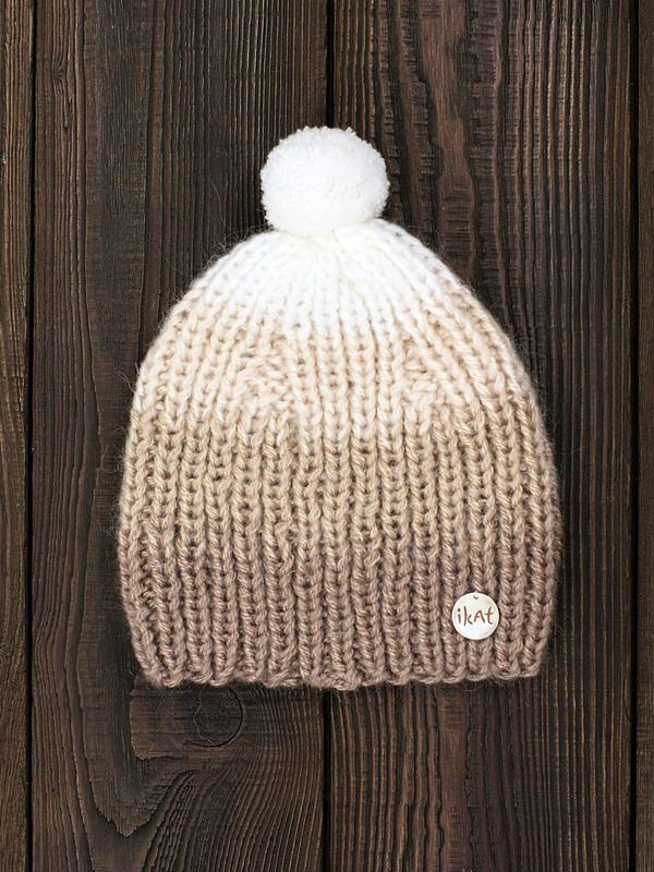 Latte Machiato Beanie, hand knitted by IKAT Knitwear