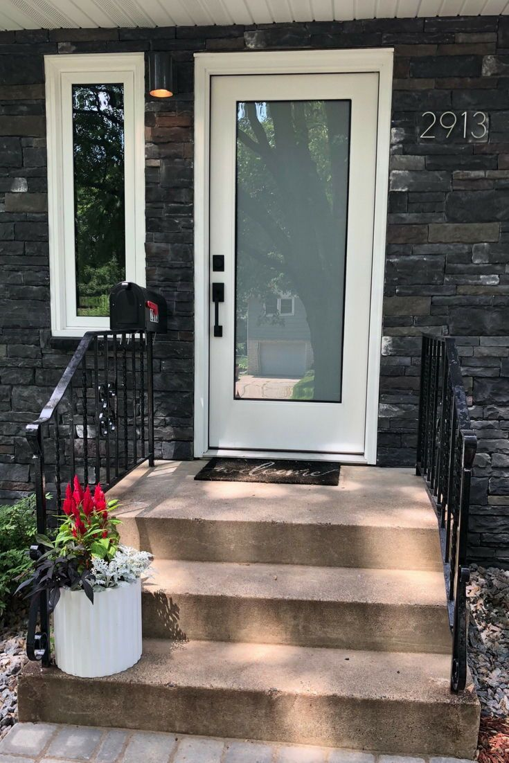 Hilldale Avenue Home Remodel Exterior Doors With Glass Frosted