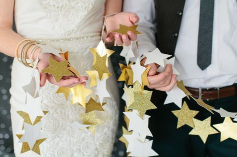 Or DIY this star garland. | 21 Stellar Ideas For An Astronomy-Themed Wedding