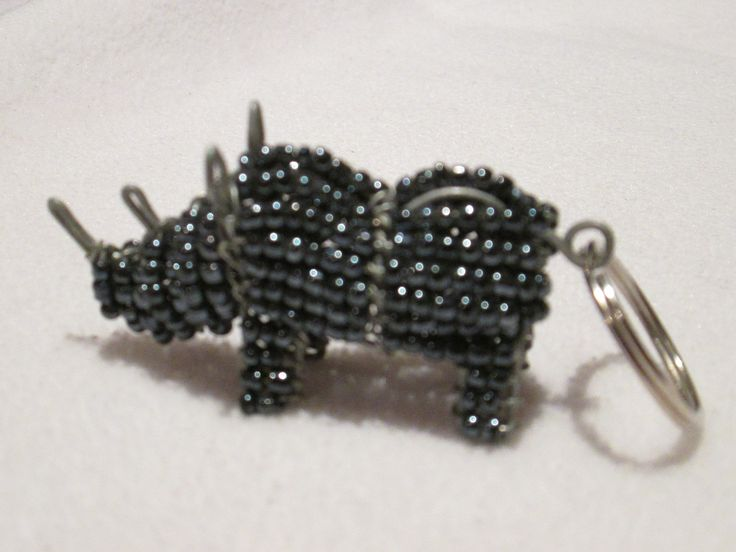 beadwork key ring #33