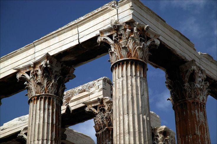 temple of zeus corinthian columns detail photo declan