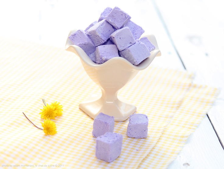 Our marshmallows. With a hint of flower essence!