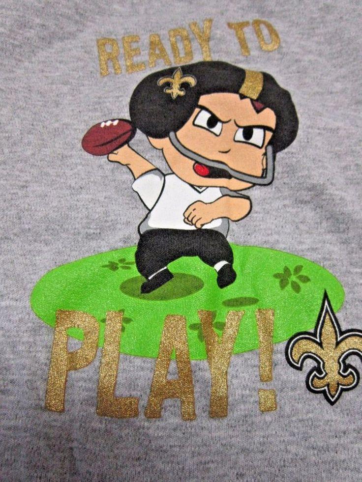 EUC! NFL New Orleans Saints Football Baby Infant Romper One Piece Sz 18 Mo #NFLTeamApparel #NewOrleansSaints