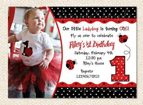 25 unique Ladybug birthday invitations ideas – Lady Bug Birthday Invitations