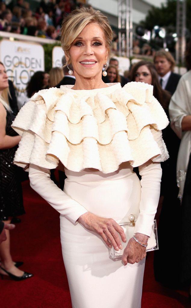 Jane Fonda from 2016 Golden Globes: Candid Pics | E! Online