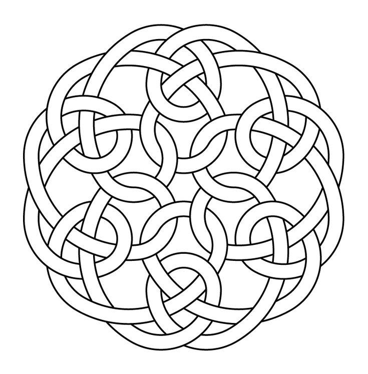 Celtic knot-work hexagonal by Peter Mulkers