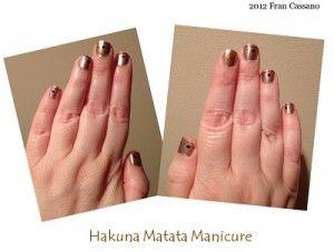 Practically Perfect DISNEY Crafting: Hakuna Matata Disney Manicure