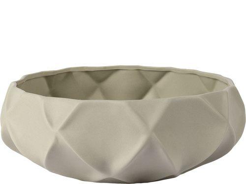 Okrągła Misa Ceramiczna (Szara) - Meble VOX - Meble VOX