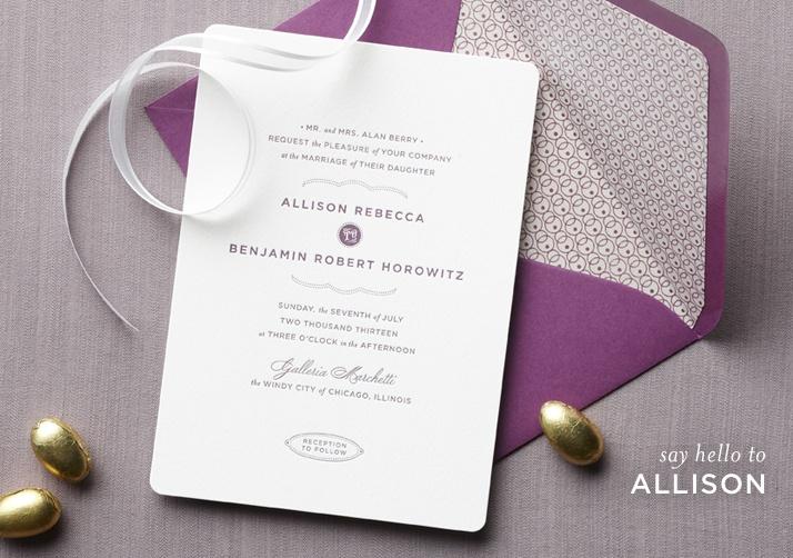 Claremont Collection wedding stationery - Allison design #invitation #wedding #letterpress