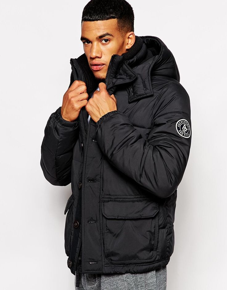 Abercrombie & Fitch Quilted Coat with Hood