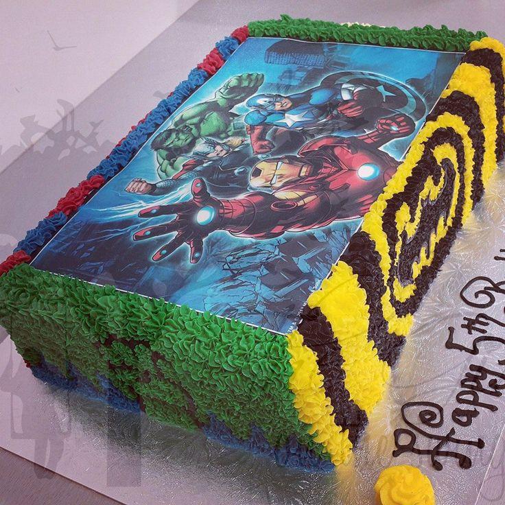 Superhero Edible Image with Various Superhero Sides