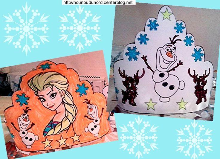 couronnes reine des neiges à imprimer sur mon blog http://nounoudunord.centerblog.net/4217-couronnes-reine-des-neiges