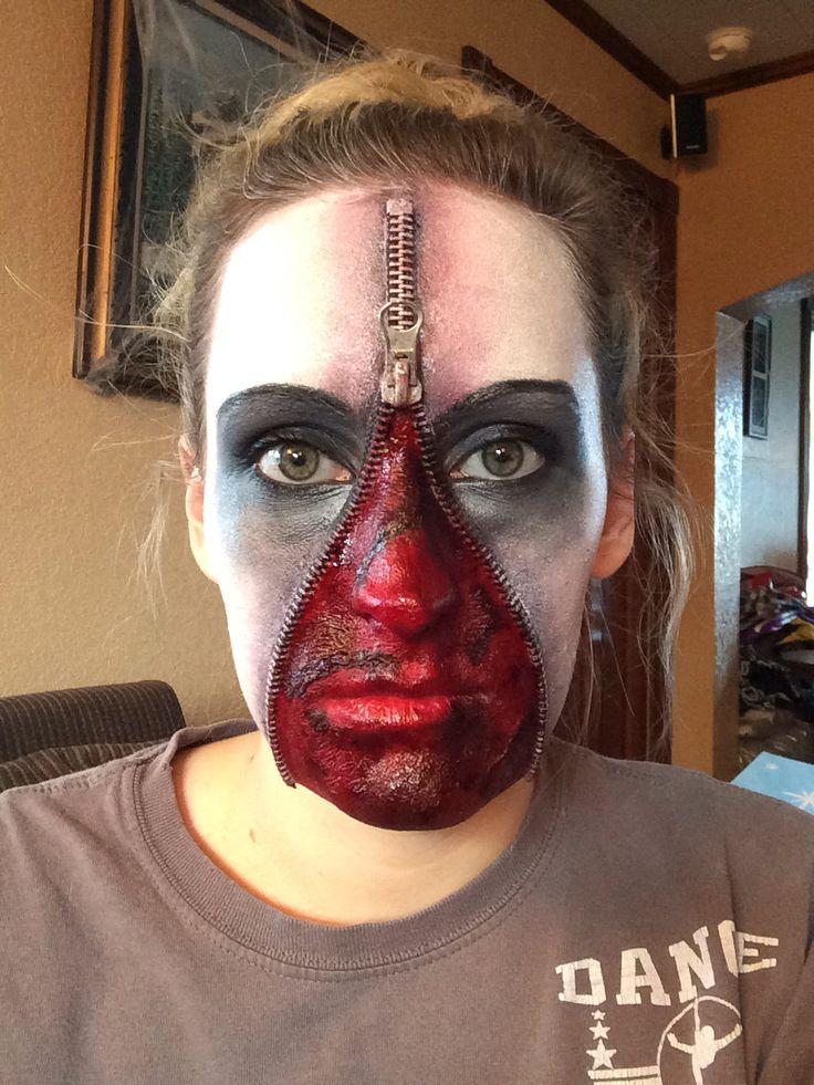 14 best Zipper face images on Pinterest | Halloween makeup ...