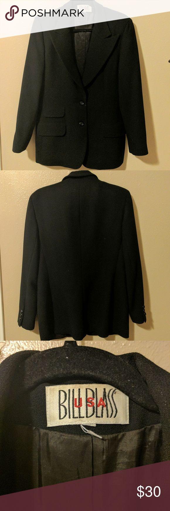 Bill Blass Black Suit Jacket Stylish Women's black suit jacket from Bill Blass. In excellent condition. Price is firm. bill blass Jackets & Coats