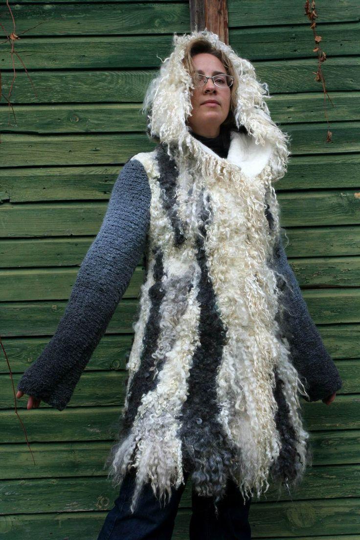 Felted coats by Irina Lyubina