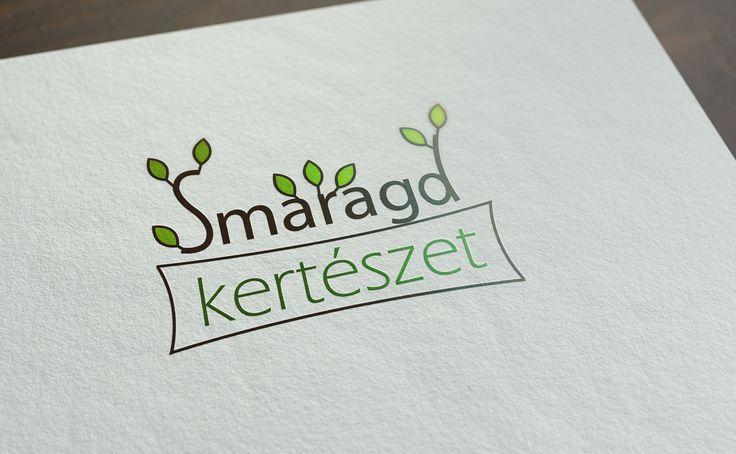 A Smaragd Kertészetnek tervezett logó