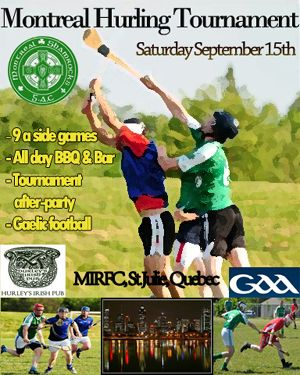 Montreal's Shamrock Gaelic Athletic Club is hosting a hurling tournament in Sept. 2012. Get the details at Hurley to Rise!