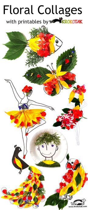 Floral collages .... these are fab for kids #summer :)