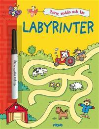 Skriv, sudda och lär - Labyrinter