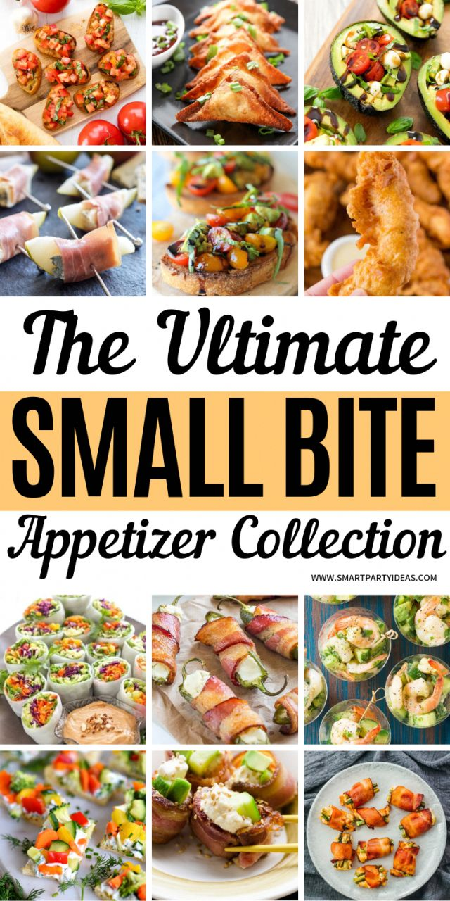 200+ Best Small Bite Party Appetizers Perfect For Any Event – Smart Party Ideas …