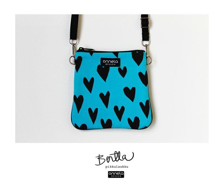 Onnela Design turkoosi Bertta-pikkulaukku.