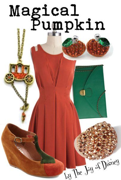 Outfit inspired by the magical pumpkin that becomes Cinderella's carriage!
