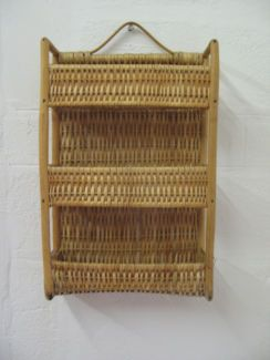 $20 CANE Mail HOLDER Wall Rack Display 26x10x40cm Text 0411691171 or email info@bitspencer.com