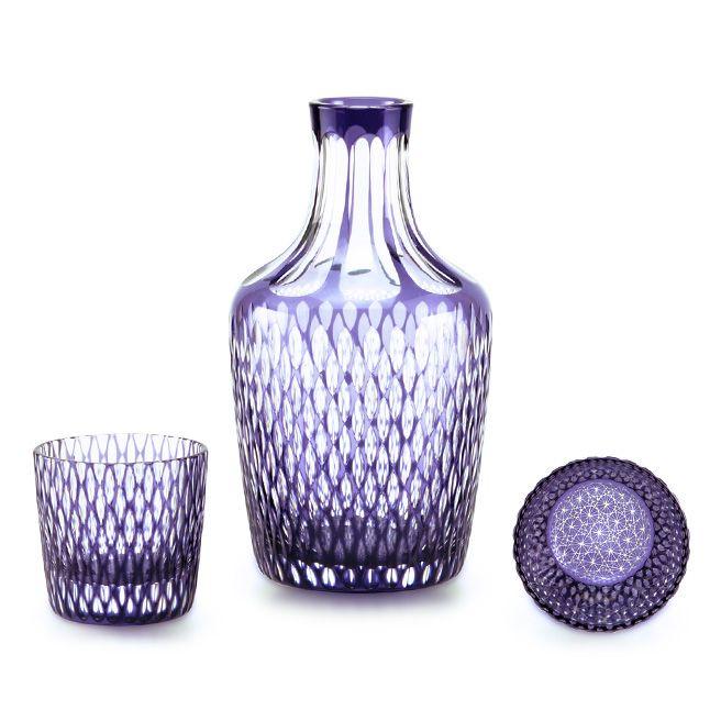 edokiriko Japanese traditional glass art made by Hanashyo sake set…