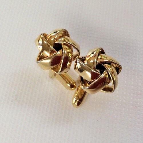 Cufflinks Whimsical Gold Tone Love Knot 1/2in Wedding Prom Formal Open Weave Vtg | eBay