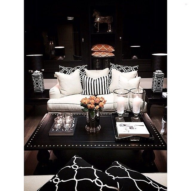 Black and white goodness tagged by @ramboline Hashtag #inspire_me_home_decor for a chance to be featured.... - Interior Design Ideas, Interior Decor and Designs, Home Design Inspiration, Room Design Ideas, Interior Decorating, Furniture And Accessories