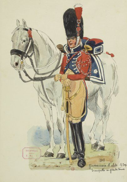 Garde_impériale_-_Trompette_de_la_gendarmerie_d'élite_en_grande_tenue.jpg (405×579)