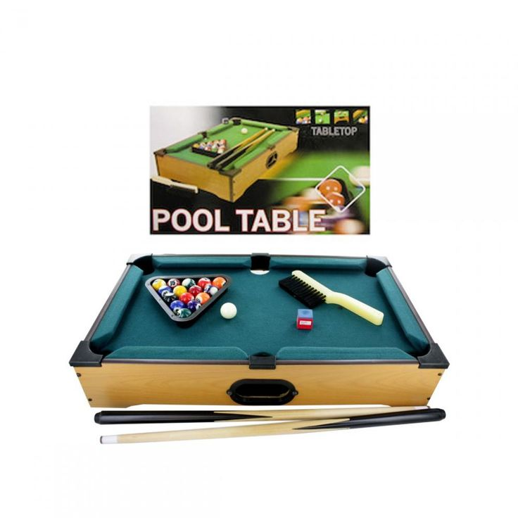 Tabletop Pool Table, 22 Pieces