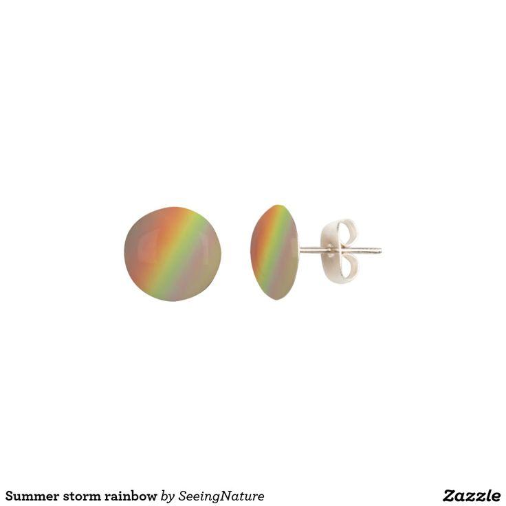 Summer storm rainbow earrings