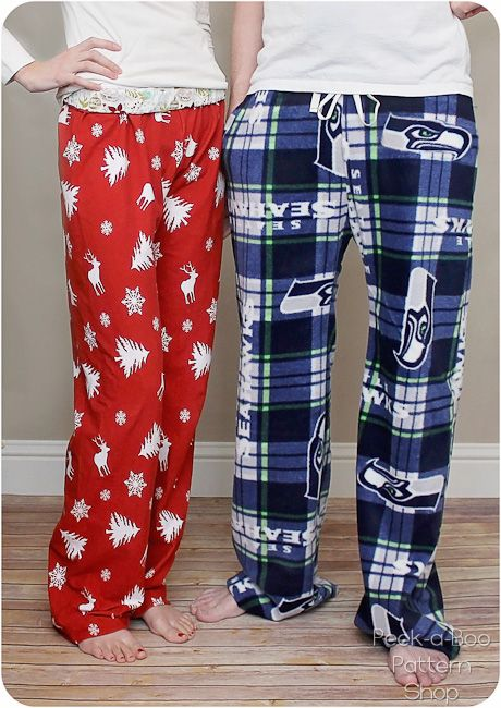 Pajama pants sewing pattern for men and women!