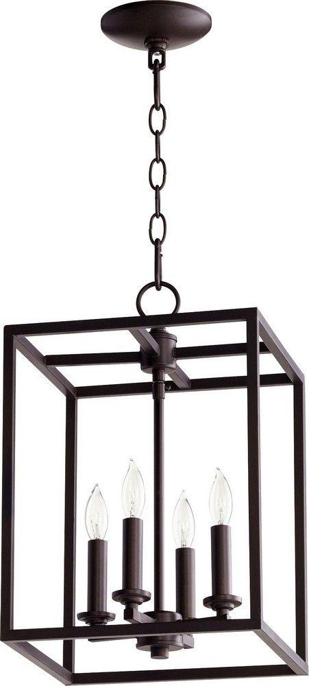 Quorum lighting cuboid four light small foyer pendant lighting foyer foyer