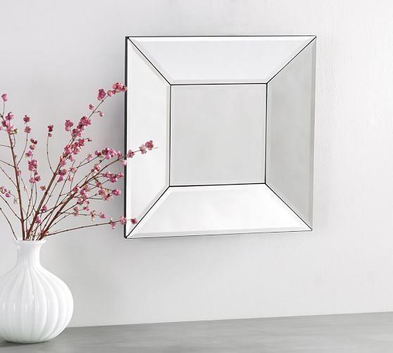 Bevel Square Mirror #potterybarn