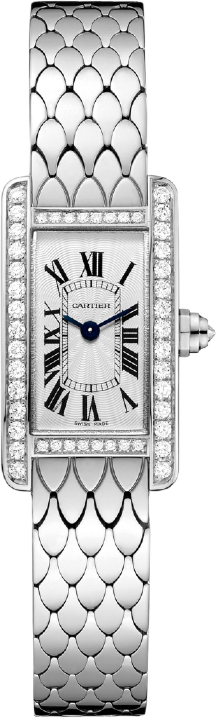 #Cartier Tank Americaine White Gold #Watch