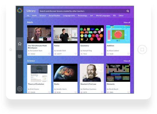 TES insegnare con Blendspace nuovo iPad app!