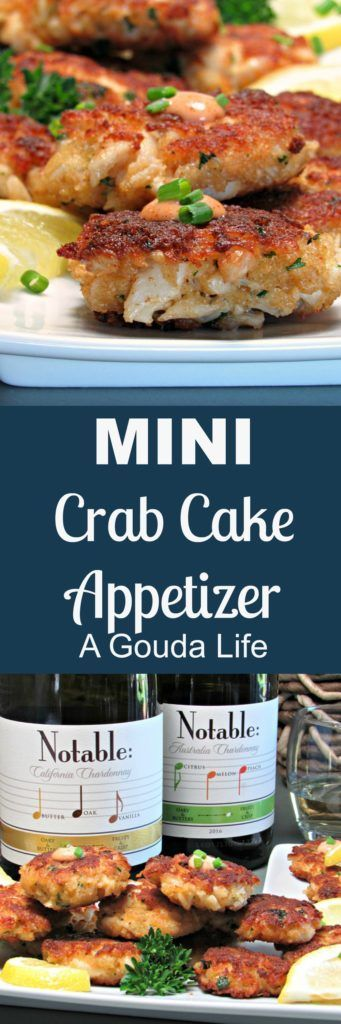 Msg 4 21+ (ad) MINI CRAB CAKE appetizer - lightly crisp outside, lump crab meat inside with a dollop of horseradish sauce on top.  #Chardonnation #SpringWine #CollectiveBias