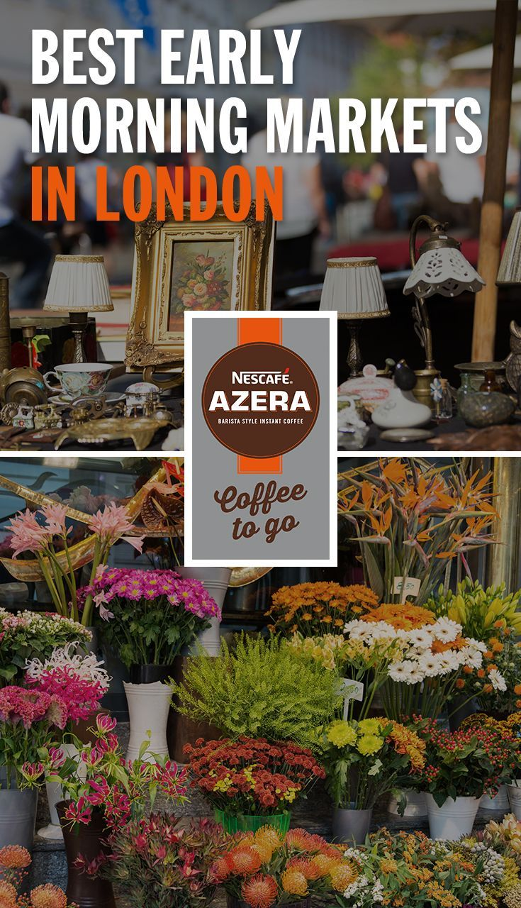 The early bird catches the deal, so bring your Nescafé Azera Coffee to Go and snap up a bargain at one of these morning markets.