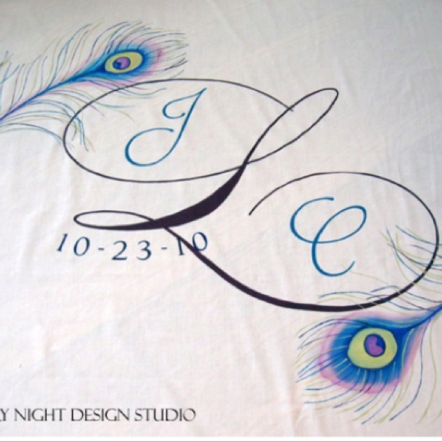 Peacock aisle runner themarriedapp.com hearted <3