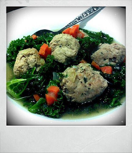 Paleo Meatball Orzo Soup