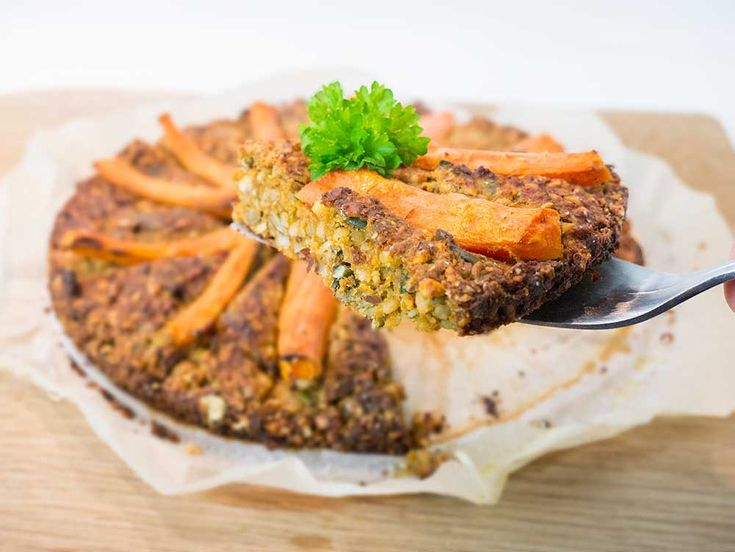 Easy vegan nut roast with tahini gravy - made in a cake tin
