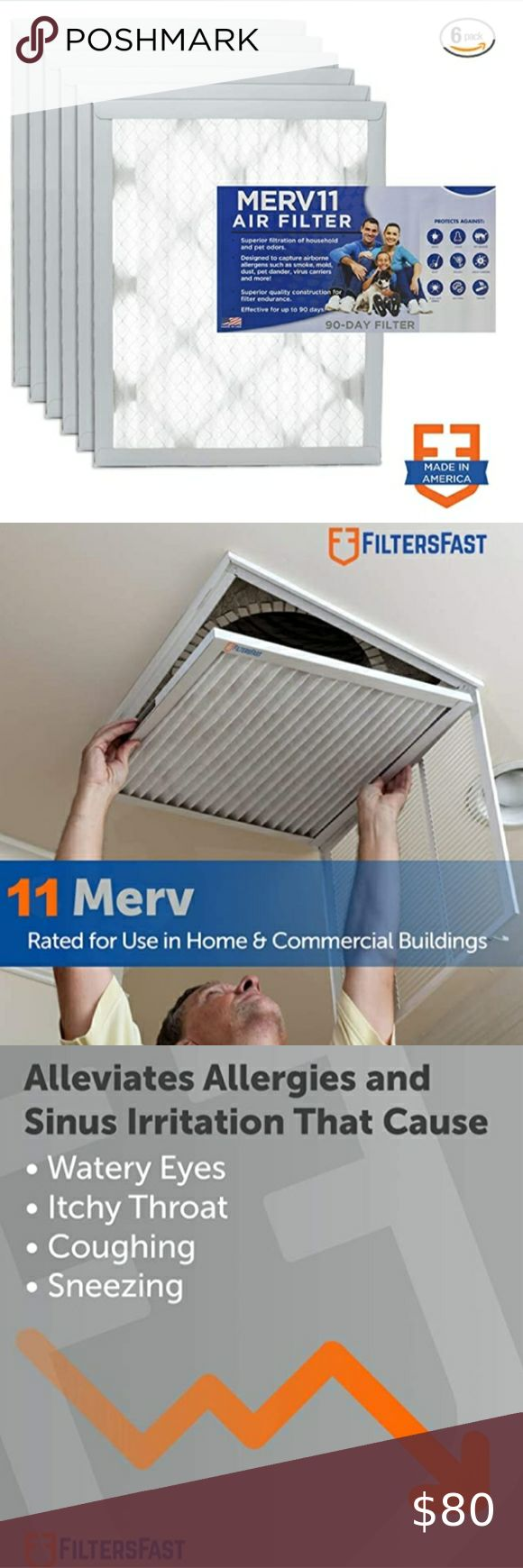 NEW IN BOX MERV 11 HOUSE AIR FILTERS(6 PACK) in 2020 Air