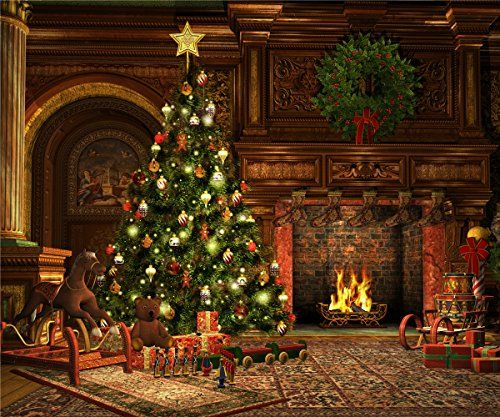 8x8ft castle photography background christmas tree backdr httpswww - Amazon Christmas Tree