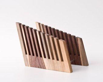 Großer Schreibtisch Organizer Holz / Büro Organisation
