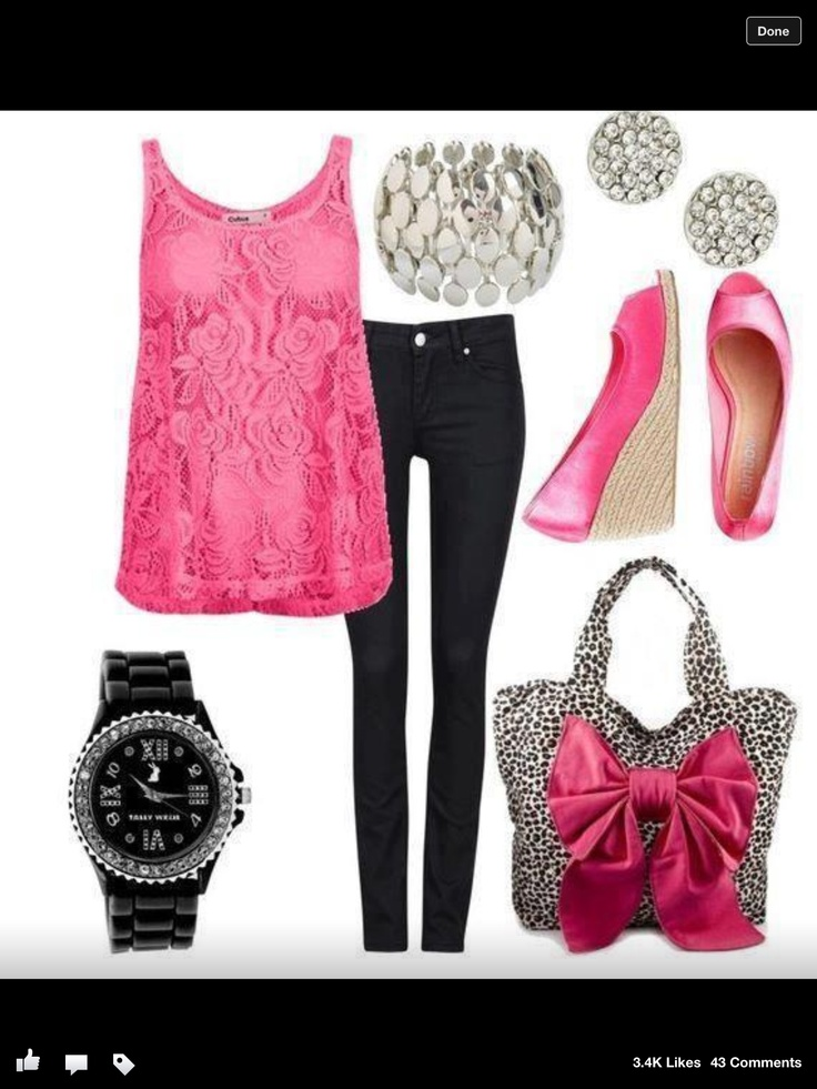Hot pink outfit | My Fashion | Pinterest | Ideas for valentines day Valentineu0026#39;s day outfit and ...