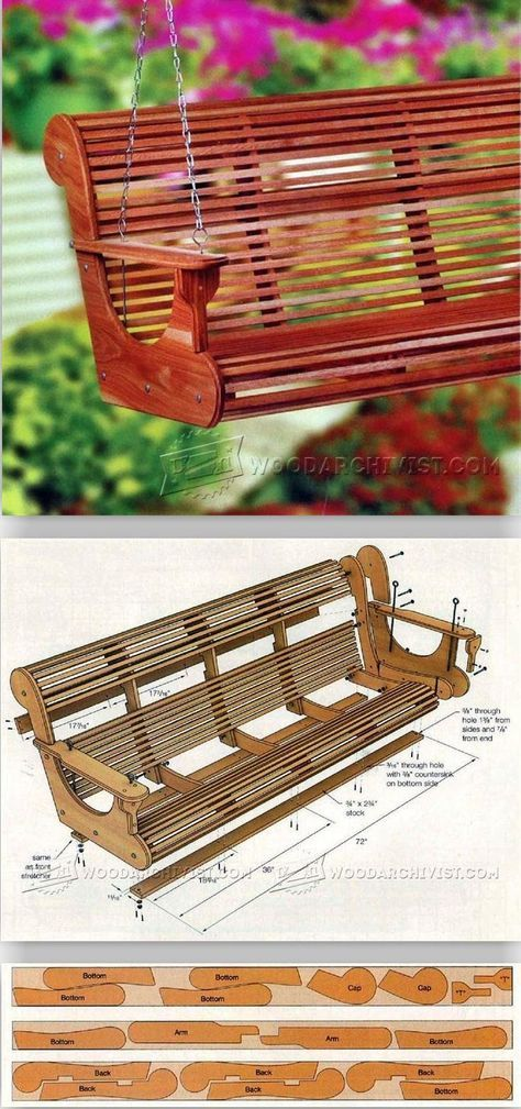 Classic Porch Swing Plans - Outdoor Furniture Plans and Projects | WoodArchivist.com