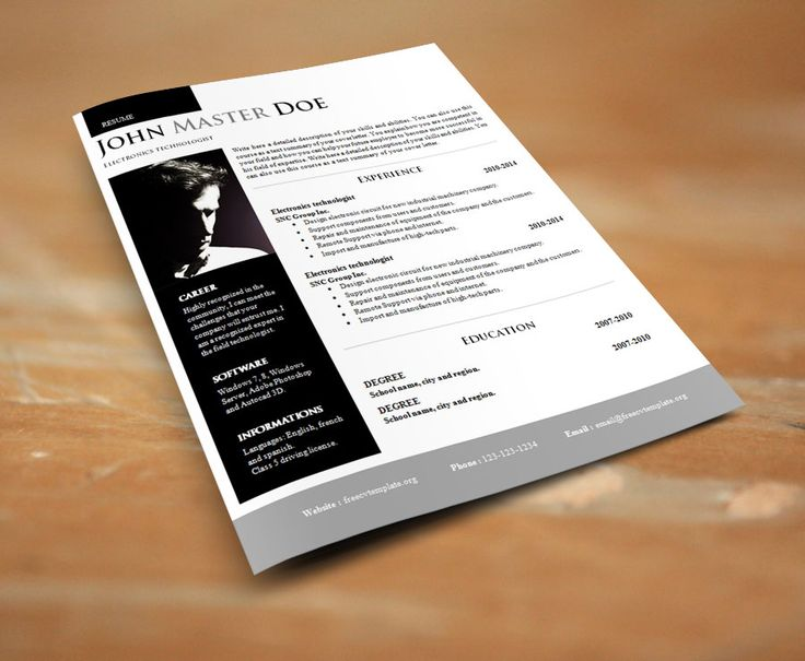 23 best Cv images on Pinterest Resume, Resume design and Curriculum - cool free resume templates